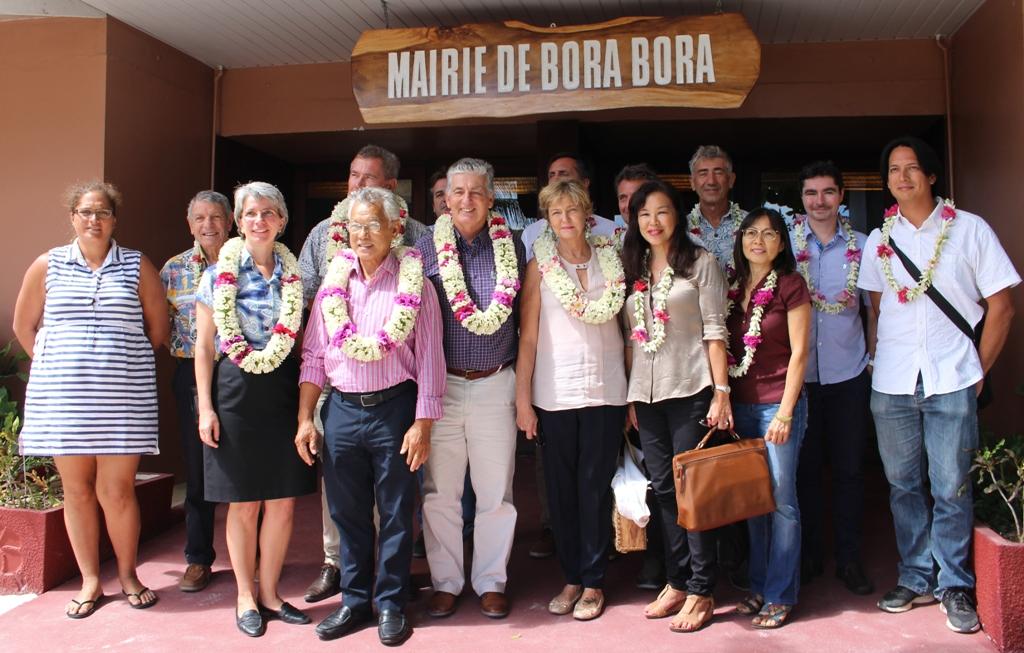 Une délégation de la Santé et de l'OMS s'est rendue à Bora Bora lundi.