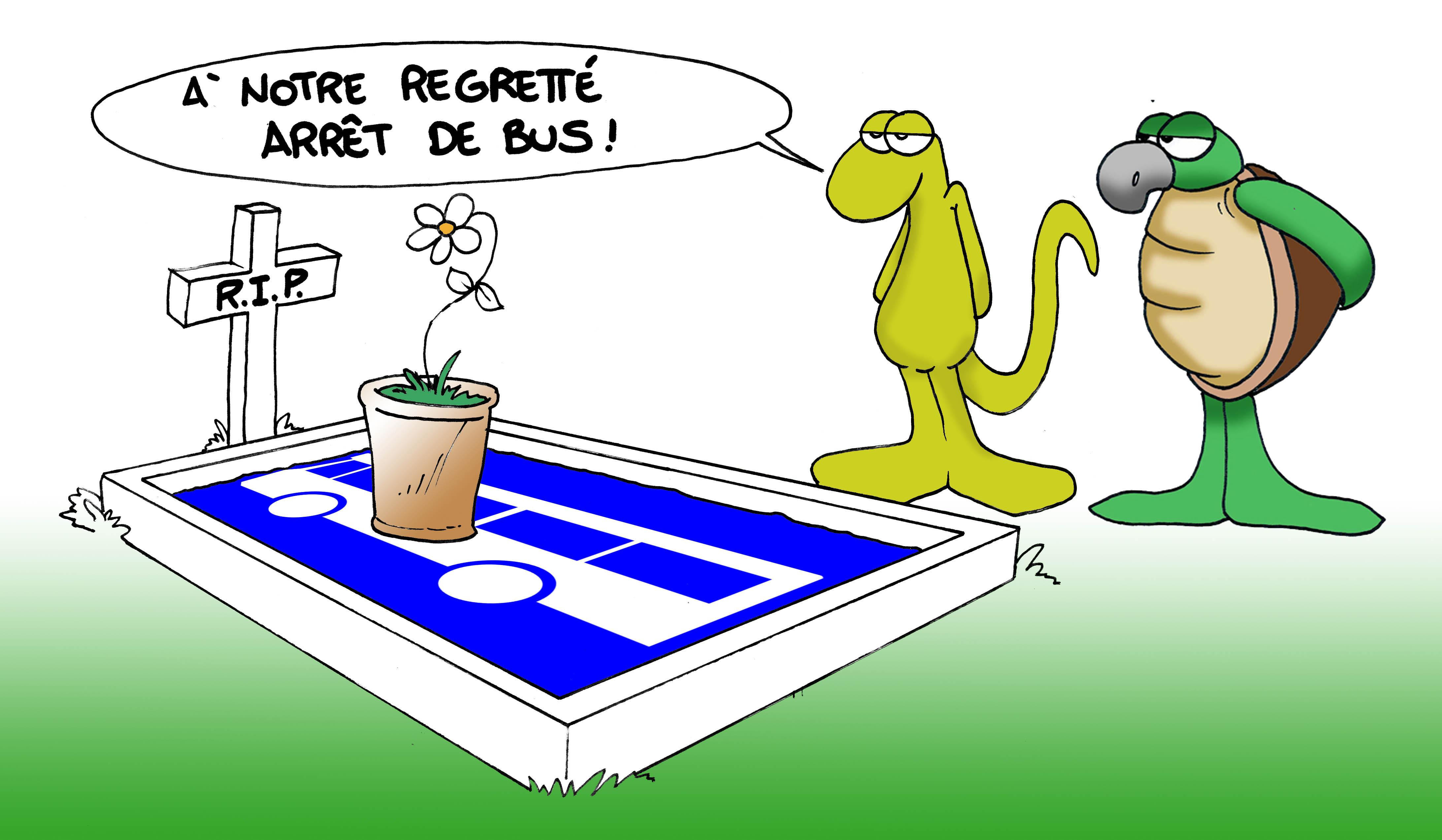 """"""" Notre regretté arrêt de bus """" par Munoz"""