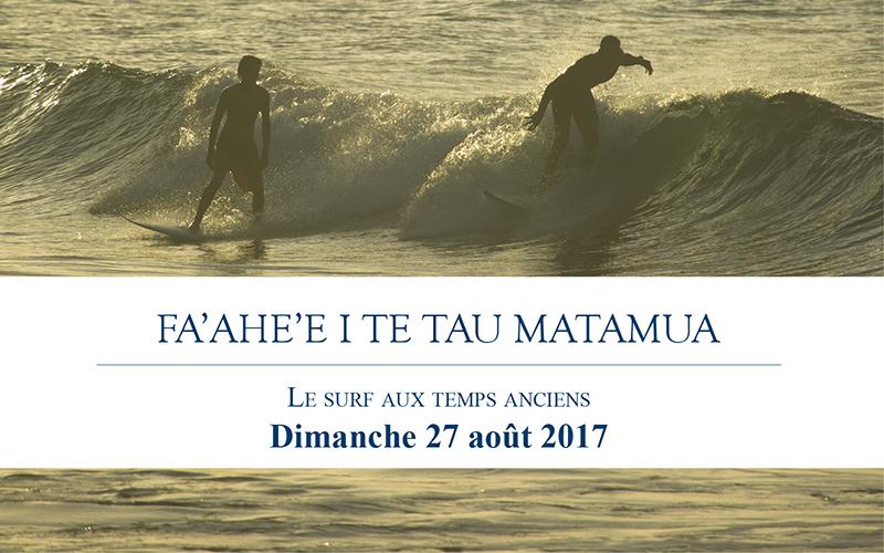 C'est un retour aux sources auquel vous convie Tahiti Tourisme ce dimanche, à l'embouchure de la rivière de Fauoro, à Teahupo'o.