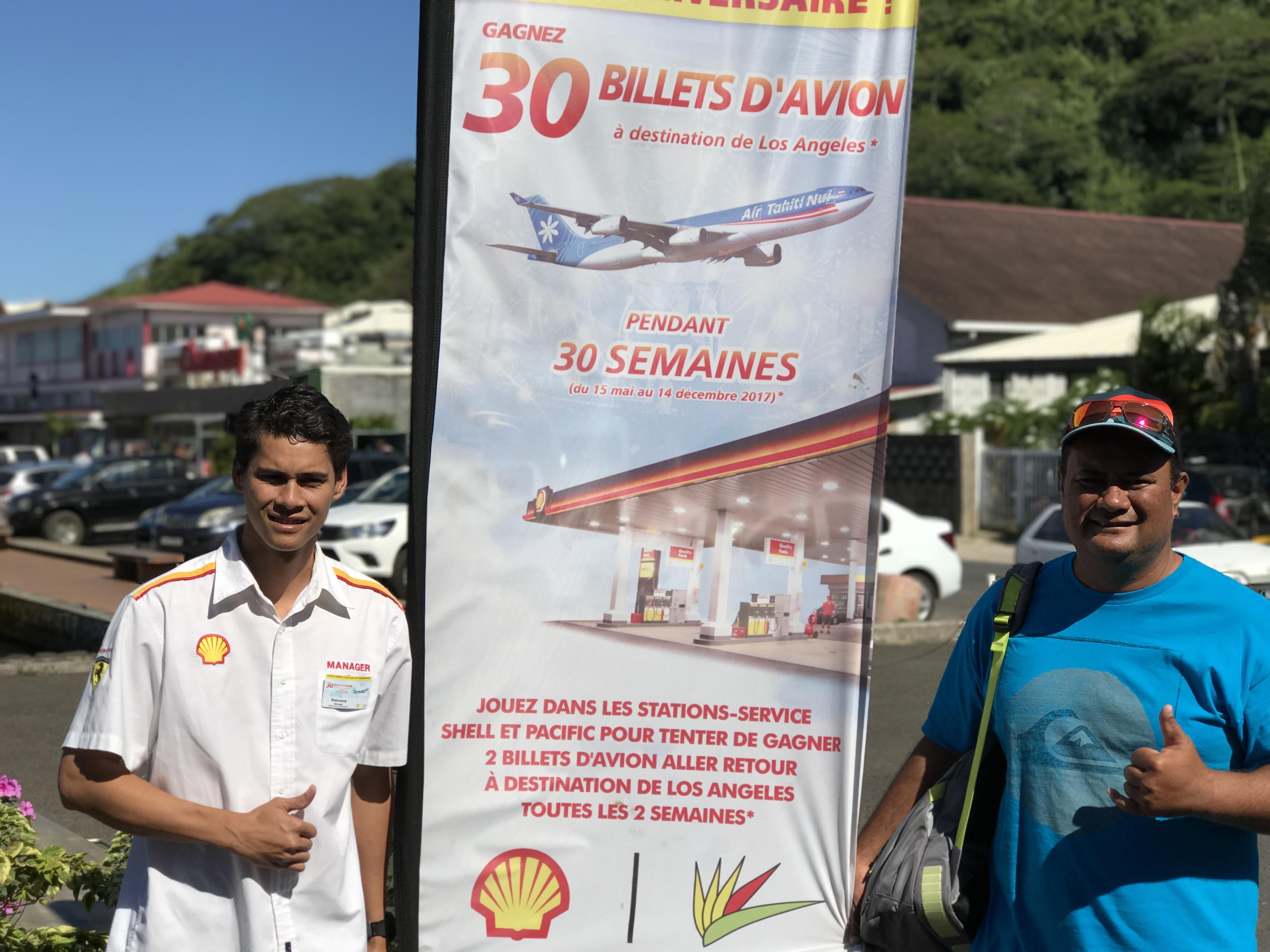 Le bulletin gagnant a été joué à la station-essence Shell de Uturoa.