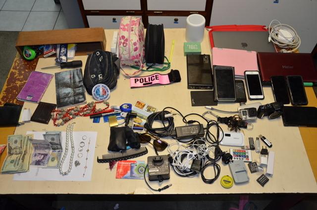 Devises étrangères, téléphones, caméra Go Pro, ordinateurs, les cambrioleurs sévissaient depuis au moins un mois. (Photo DSP)