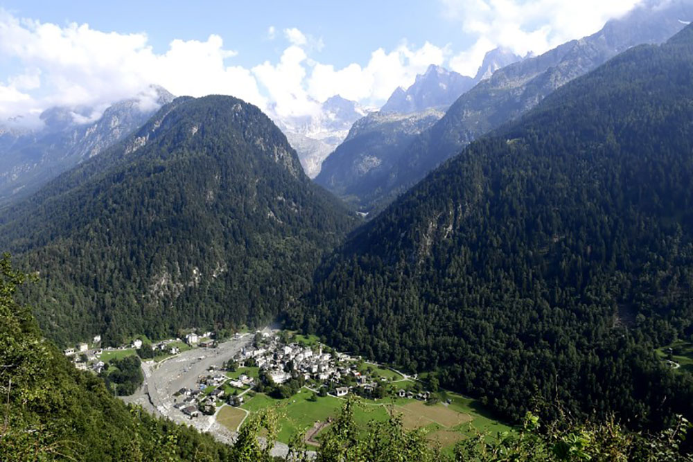 Nouveaux éboulements à Bondo, dans les Alpes suisses