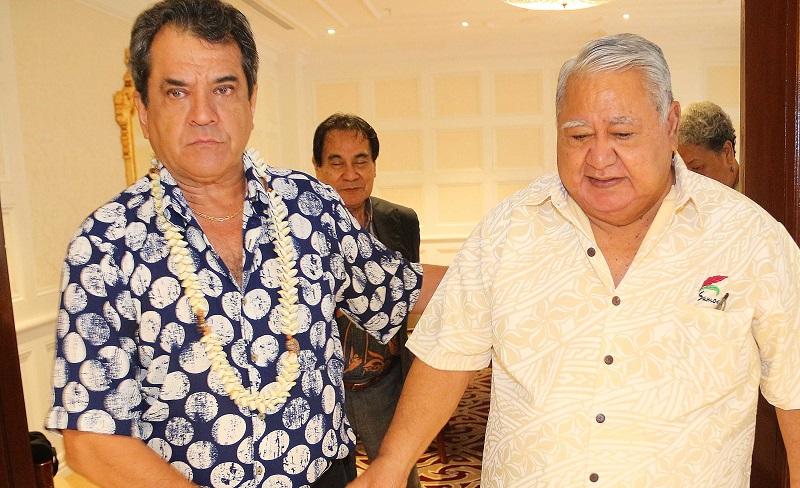 Le président de la Polynésie française, Edouard Fritch, s'est entretenu avec le Premier ministre des Samoa Tuilaepa Sailele Malielegaoi