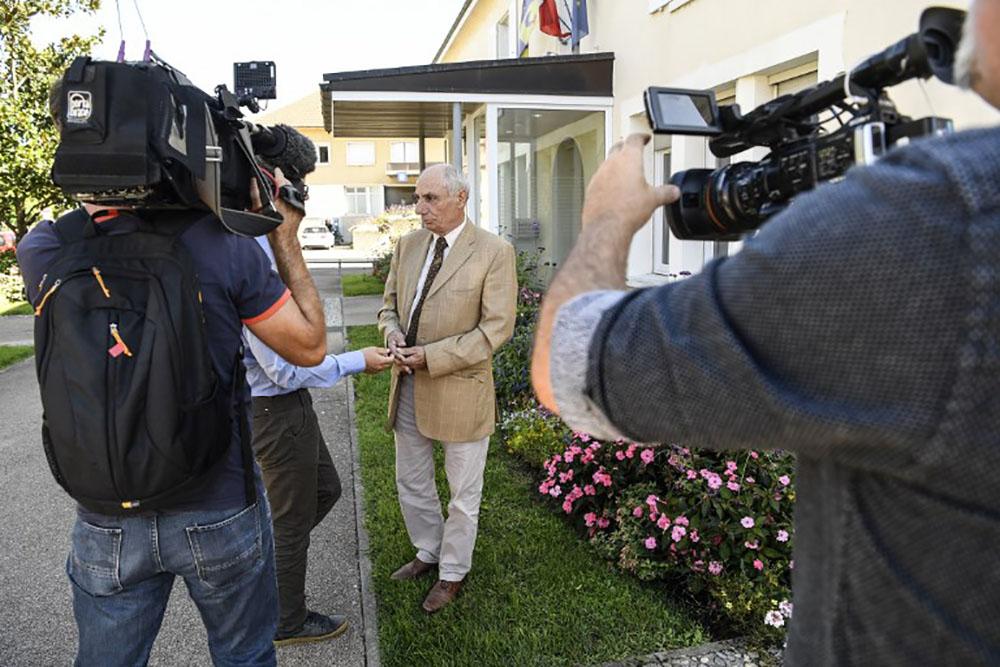 L'avocat du suspect, Me Bernard Méraud.
