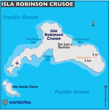 Sur cette carte, on peut voir la forme de l'île, née de deux volcans effondrés. La partie ouest, autour du minuscule aéroport, est très sèche contrairement à l'autre côté de ce bout de terre.