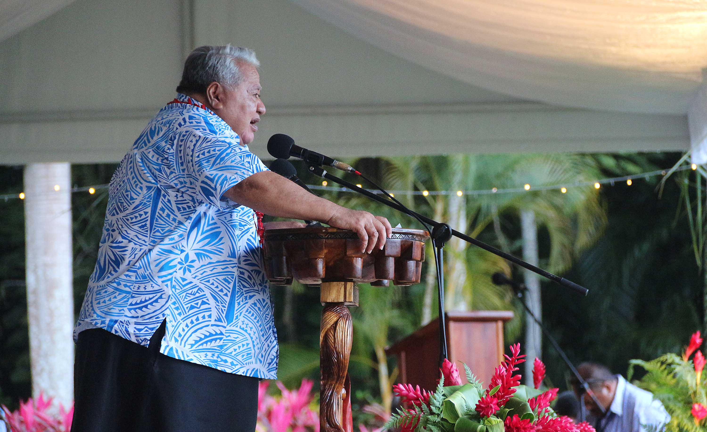 La cérémonie a été marquée par le discours du président sortant, Peter Christian, des Etats Fédérés de Micronésie, et par le discours du Premier ministre des Samoa, Tuilaepa Sailele Malielegaoi.