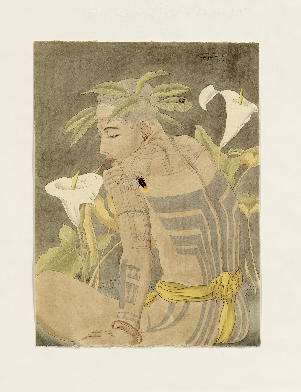 L'artiste vouait une admiration particulière aux plantes et aux insectes. (Crédit : Musée du quai Branly - Jacques Chirac, photo Claude Germain)
