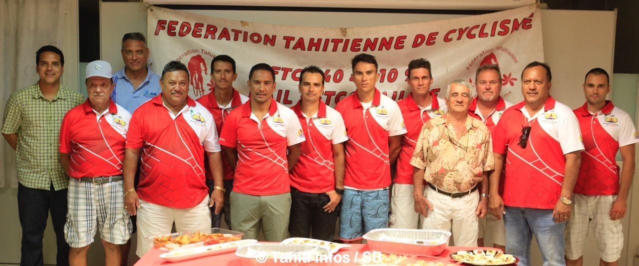 La fédération tahitienne de cyclisme a voulu féliciter les coureurs