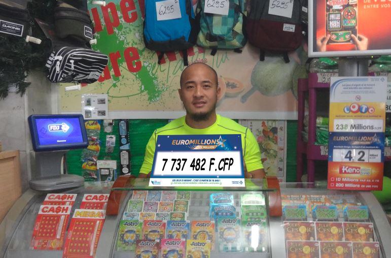 Le billet a été validéau magasin Super Fare Nui.