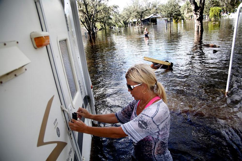 Les Keys découvrent l'ampleur des dégâts d'Irma