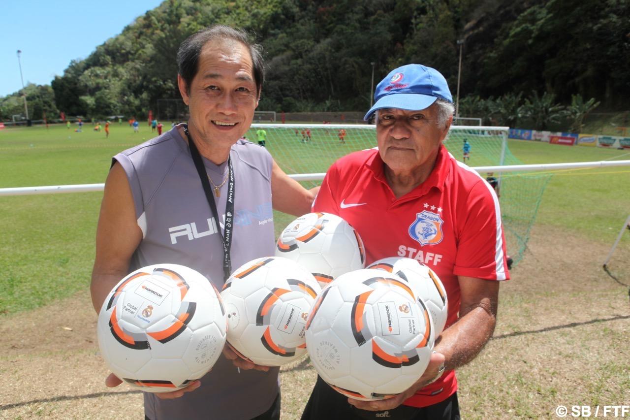 Gilbert Ah Kim Win Chin (à gauche)