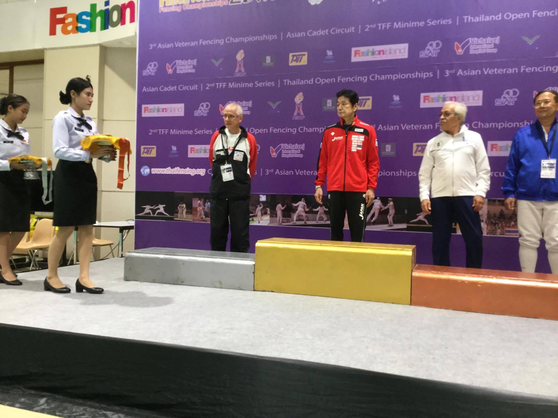Jean Cuneo a porté haut les couleurs de la Polynésie aux Jeux d'Asie d'escrime vétéran qui se sont déroulées à Bangkok, en Thaïlande
