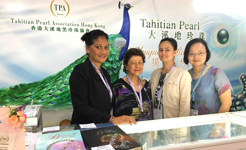 La perle de Tahiti présente au Salon international de la bijouterie à Hong Kong