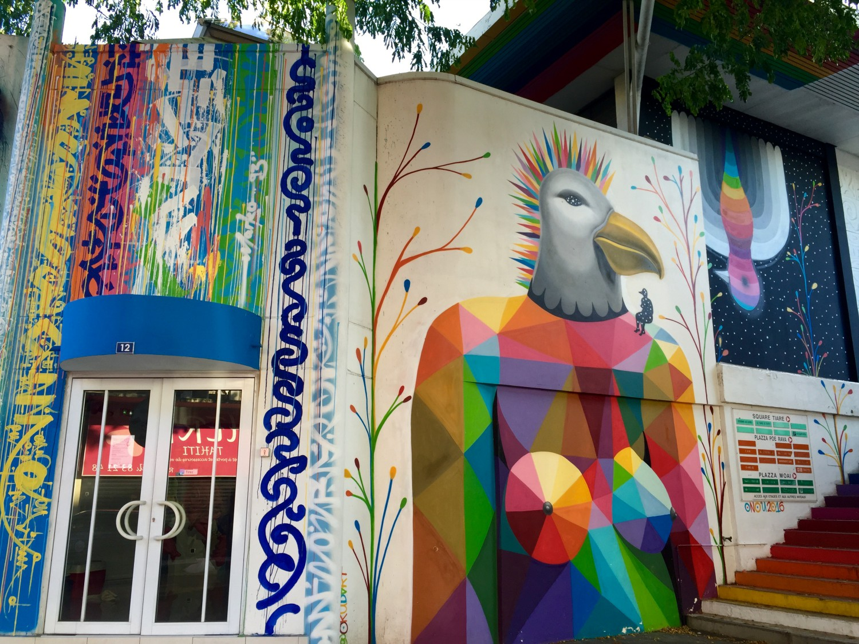 Outre les murs de Tahiti et Raiatea, de nouvelles œuvres seront créées dans les locaux du Musée du street art, au centre Vaima.