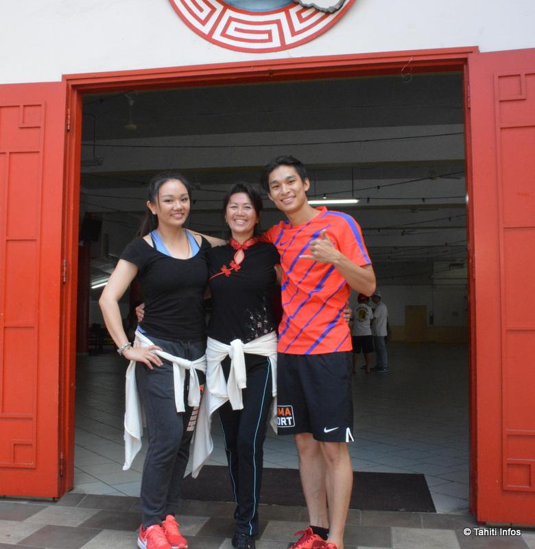Linda Chung en compagnie de Marilyn Liu et Teddy Teng, venu en renfort