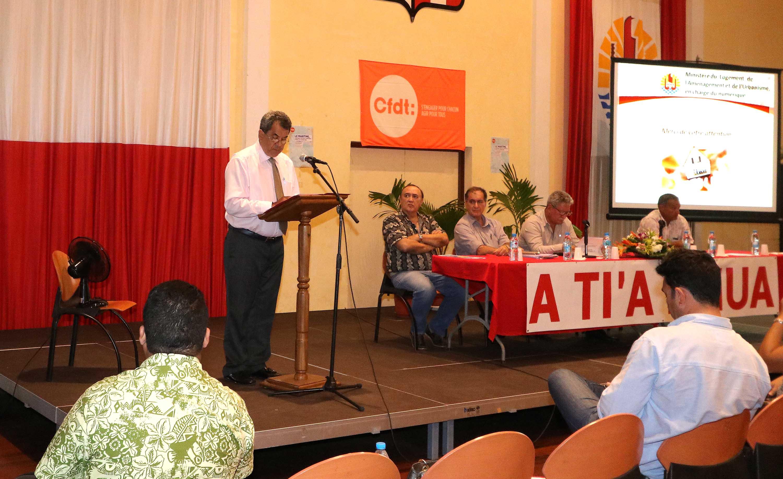 Clôture des conférences organisées par la CFDT et A Ti'a I Mua