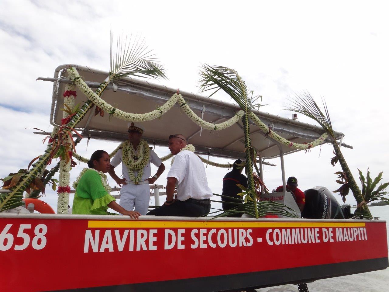 Maupiti inaugure sa nouvelle vedette de secours en mer