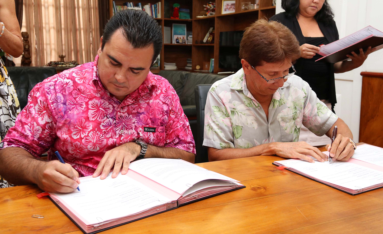Ces crédits permettront à la Polynésie française de mener à bien les opérations d'investissement de la collectivité pour l'exercice 2017. (photo : Présidence)