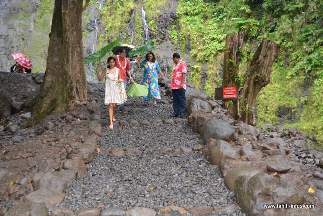 Seul le sentier qui mène à la première cascade a été refait.