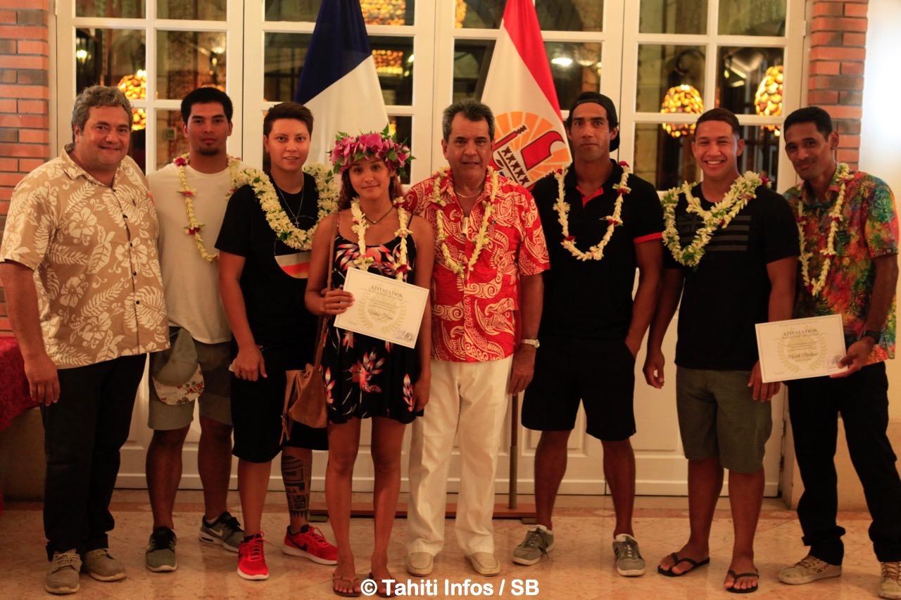 La fédération tahitienne de surf a plusieurs athlètes inscrits