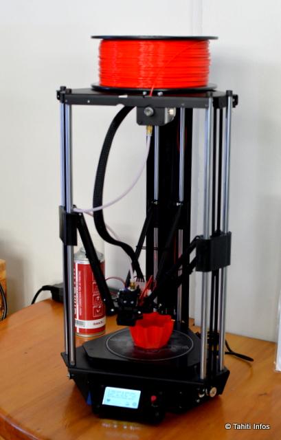 L'une des 6 imprimantes 3D en démonstration