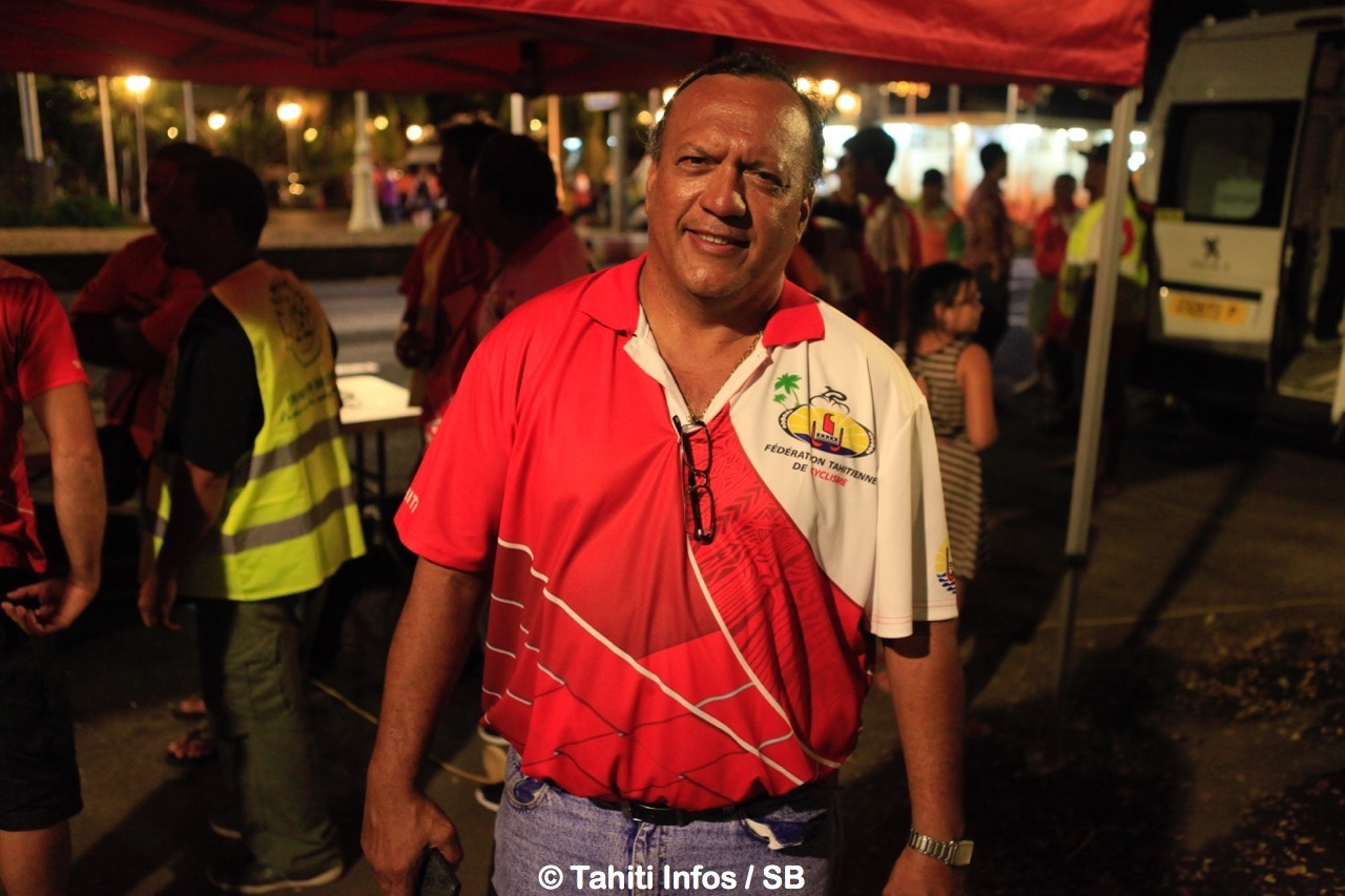Teva Bernardino, président de la fédération de cyclisme