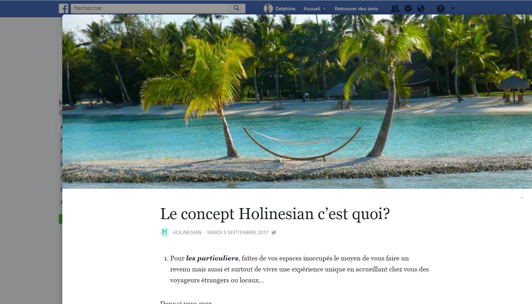 Holinesian, le Airbnb polynésien, en service début octobre