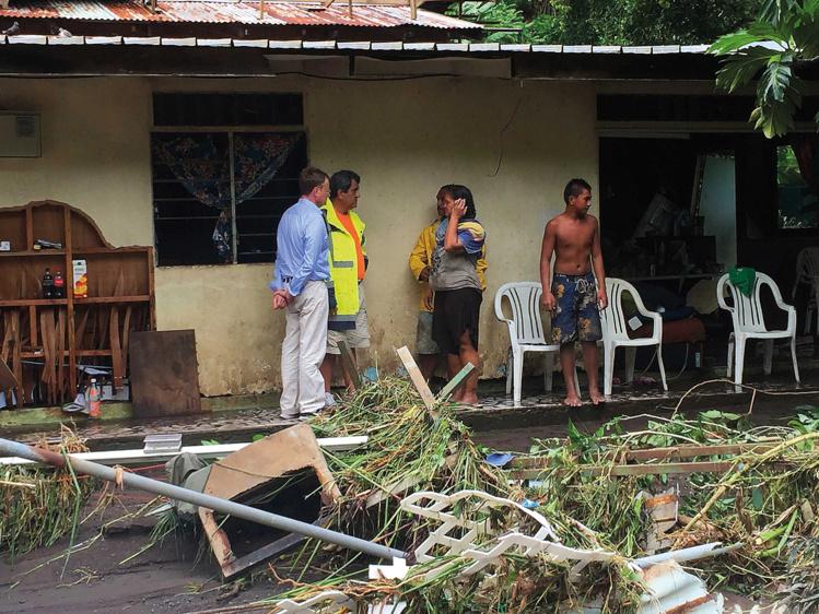 160 millions de FCFP versés par l'Etat au Pays et aux communes sinistrés lors des intempéries de janvier 2017