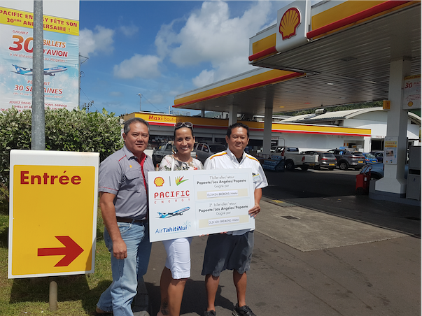Grand jeu Shell-Pacific: Hinanui de Taravao gagne deux billets pour LAX
