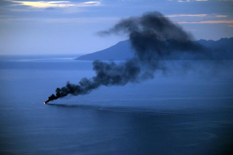 Un bateau en feu au large de Punaauia, pas de victimes