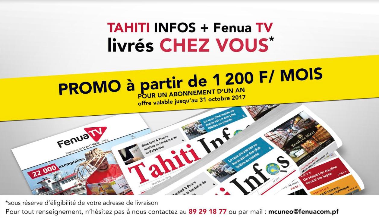 Vous ne trouvez pas Tahiti Infos? optez pour notre offre de livraison