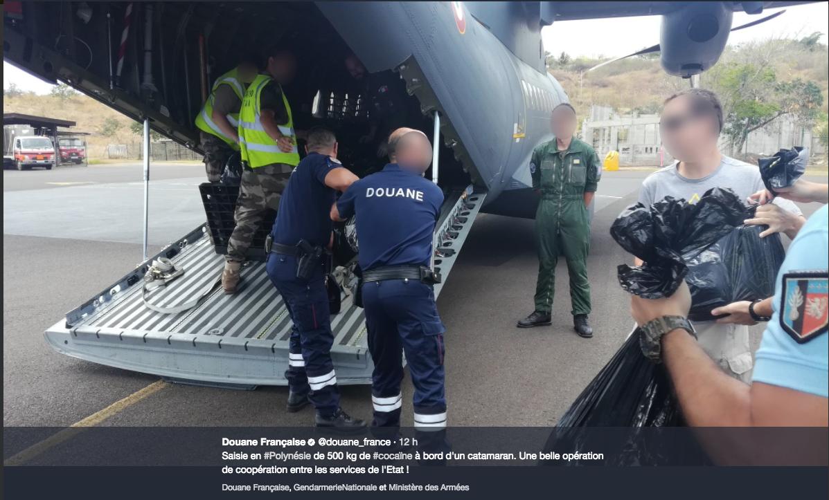 Saisie de 500 Kilos de cocaïne aux Marquises, les photos et la vidéo de la prise