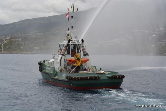 Plus puissant et mieux équipé, le Aito Nui 2 a fait son entrée samedi matin dans la rade de Papeete.