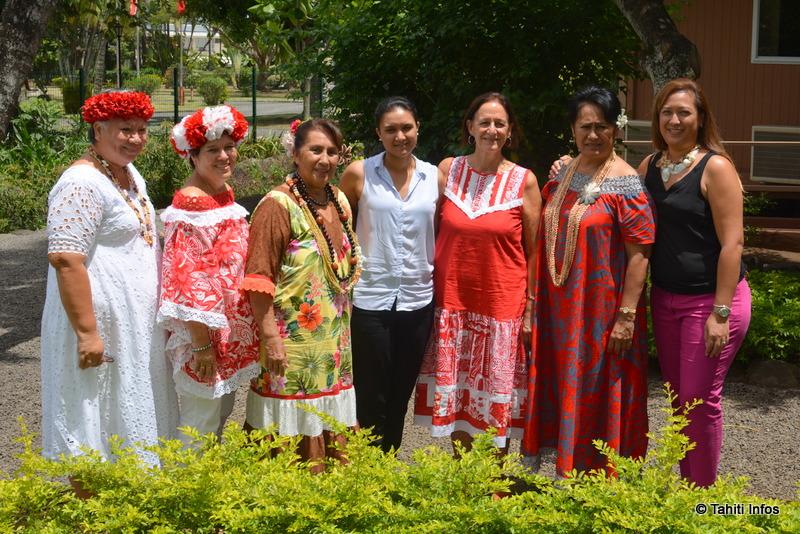 7 des 8 femmes de la délégation polynésienne partie à Fidji début octobre