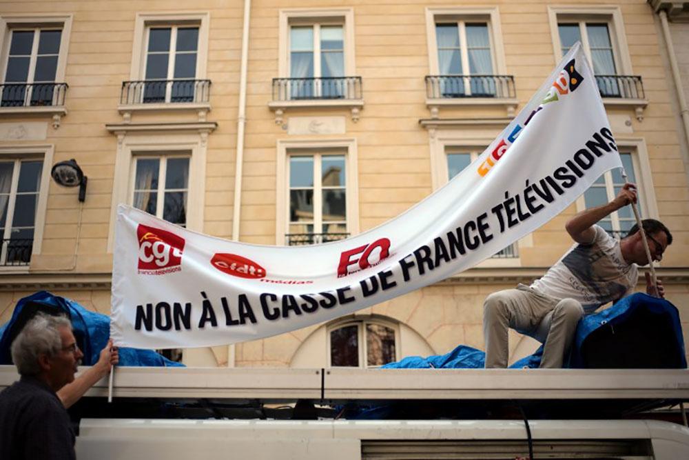France Télévisions en grève contre les coupes budgétaires