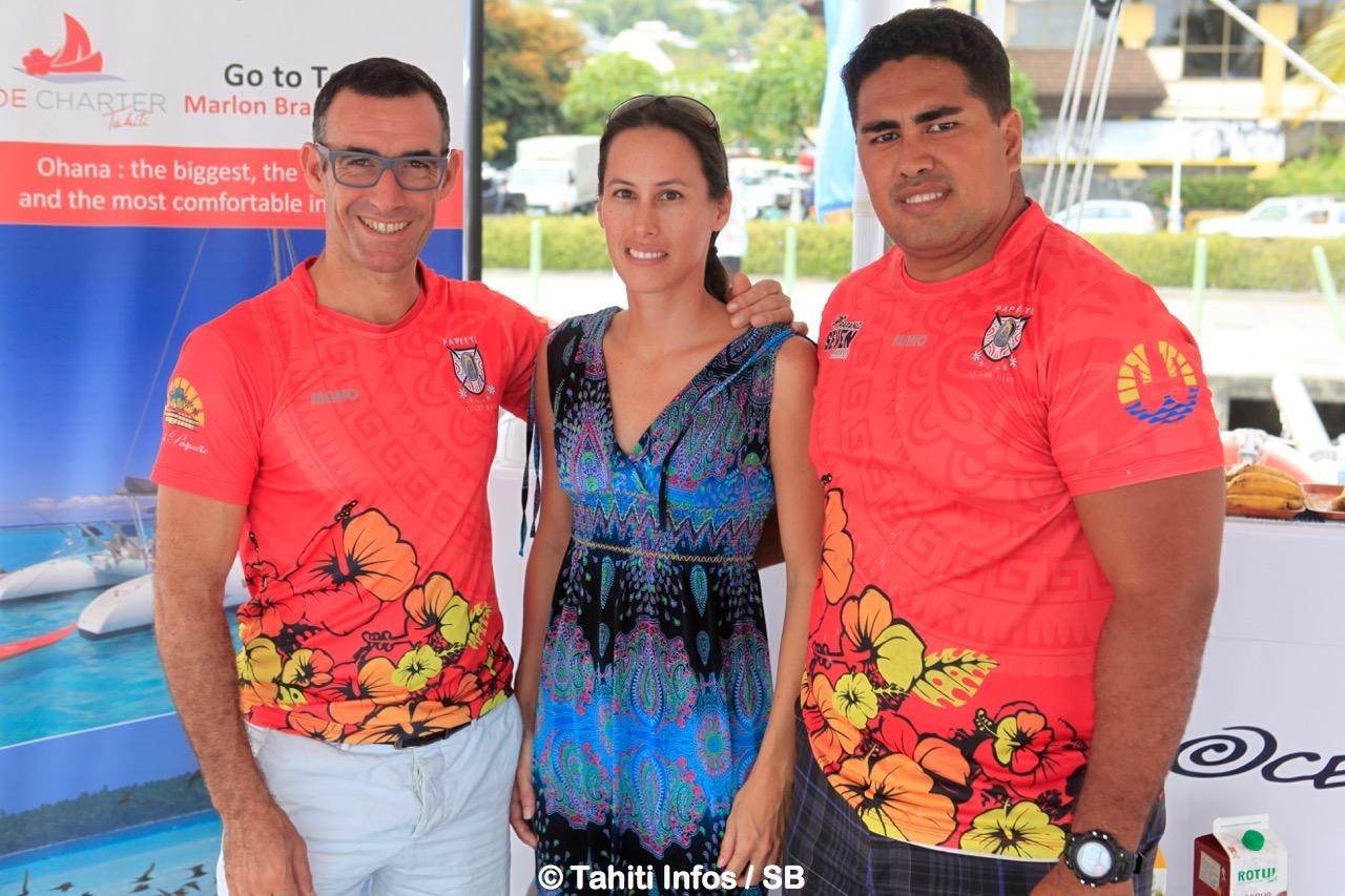 Bruce Andrieux, Céline Casaubon et Robert Taurua