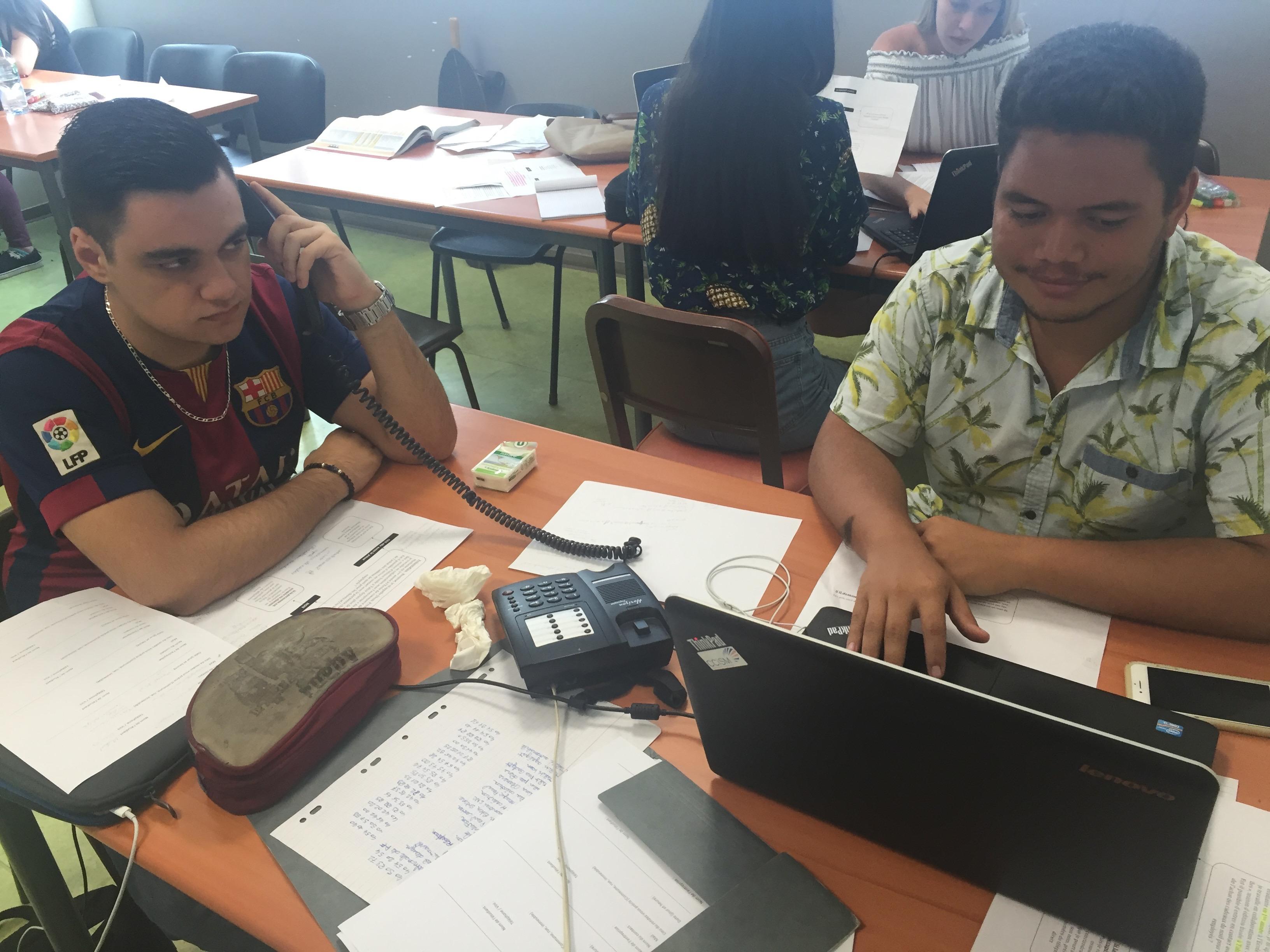 Serge Bryant et Mickaël Travers, étudiants en première année à l'ECT.