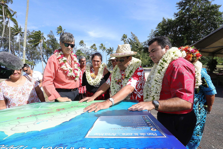 Inauguration de la plage publique de Tiahura à Moorea