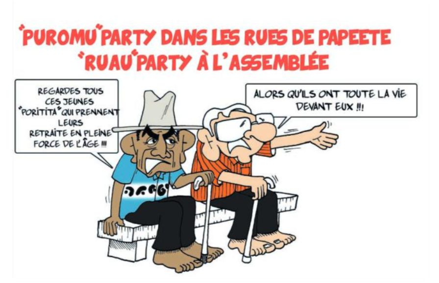 """ La puromu party "" vu par Munoz"