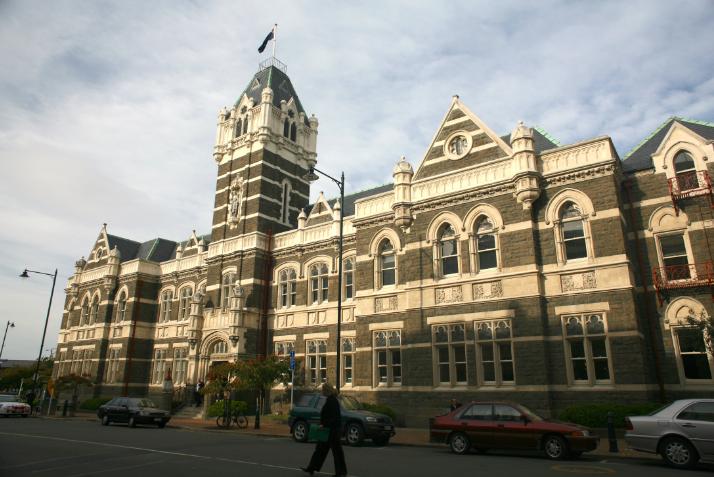 Le palais de Justice, une des pièces d'architecture les plus imposantes.