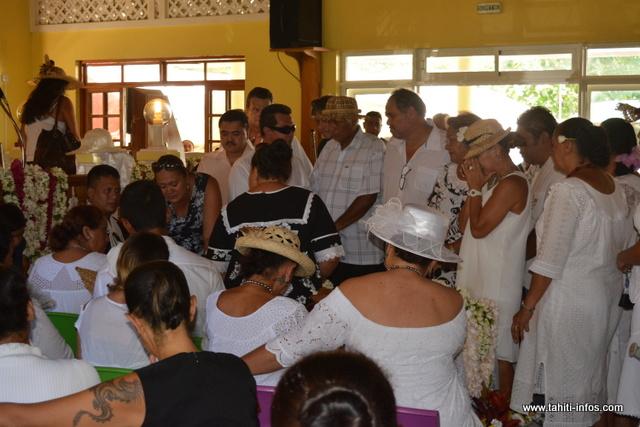 Le temple protestant de Teavaro était comble, ce jeudi, pour le dernier hommage à Pai.