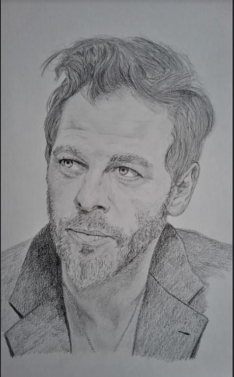 Le portrait de Christophe Mae par le dessinateur b-art-mike tahiti