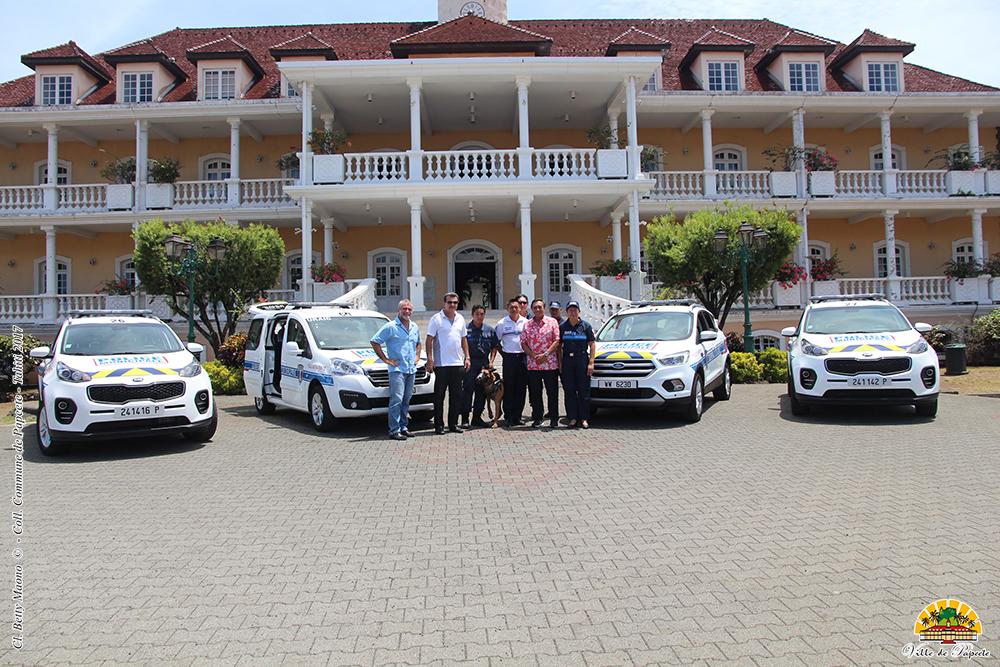 De nouveaux véhicules d'intervention pour la police municipale de Papeete
