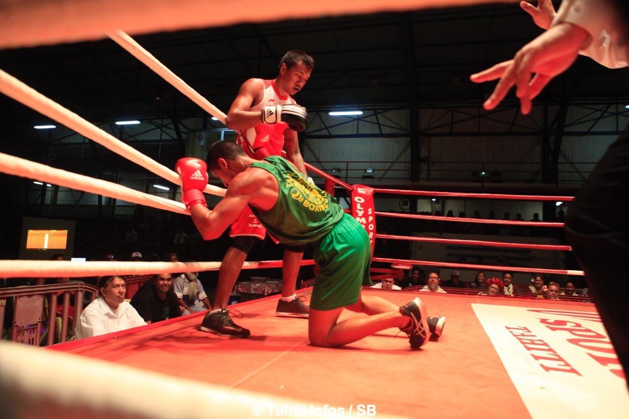 Teahu Faufau a mis son adversaire en difficulté plusieurs fois