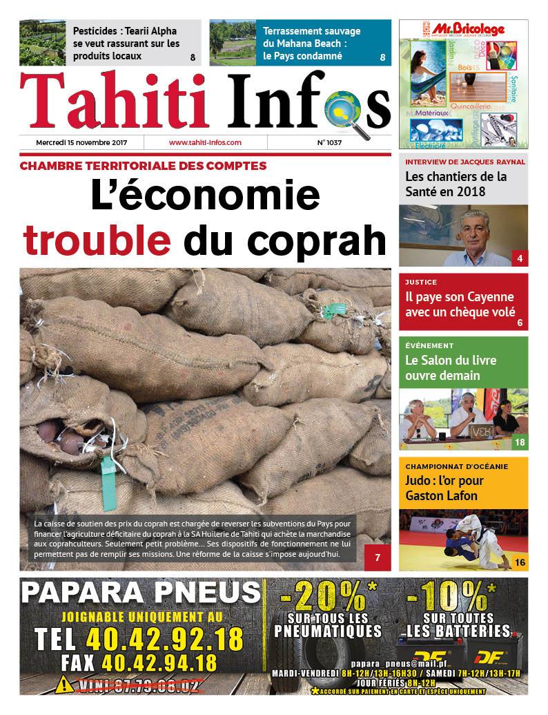 TAHITI INFOS N°1037 du 15 novembre 2017