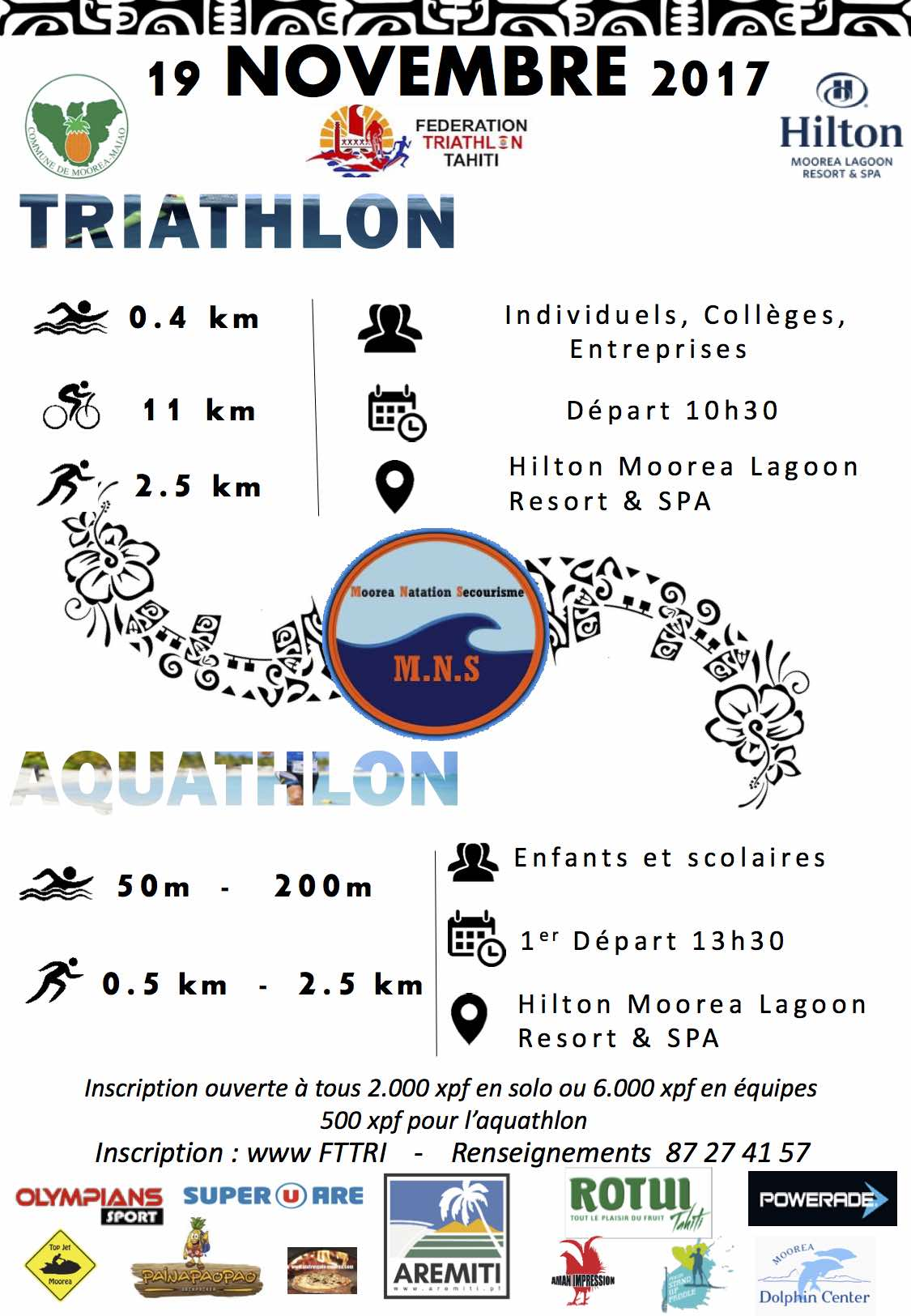 Triathlon – Moorea Natation Tri : Le triathlon se développe à Moorea