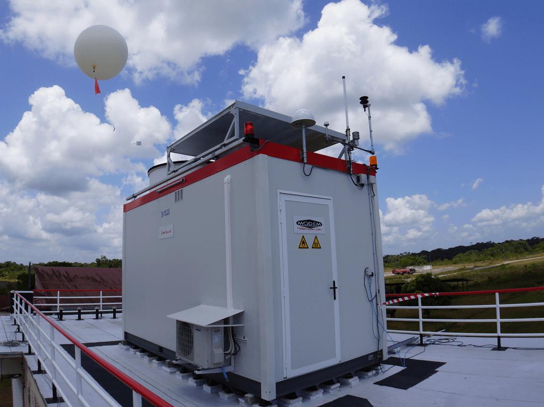 Une photo de la station Robotsonde. C'est une technologie française.