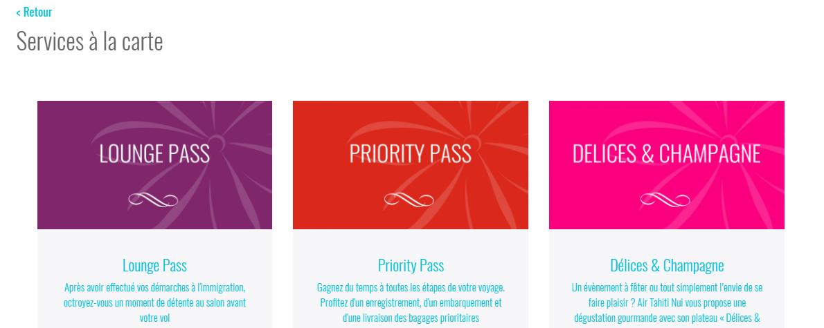 Le site internet d'Air Tahiti Nui propose de nouveaux services pour la classe éco.
