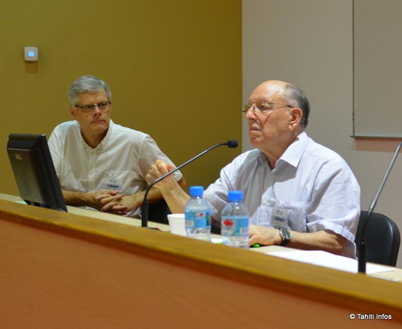 Le professeur Briguglio a été écouté avec attention par Jacques Mérot, président de l'APC
