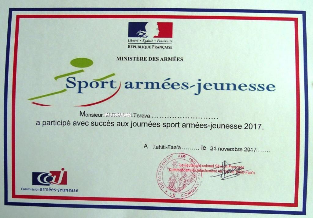 Journée « Sport-armées-jeunesse » sur le DA 190